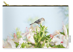 Bushtit Atop The Hibiscus Carry-all Pouch