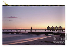 Carry-all Pouch featuring the photograph Busselton Jetty Sunrise by Ivy Ho