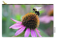 Carry-all Pouch featuring the photograph Busy Bee by Trina Ansel