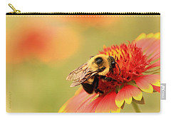 Carry-all Pouch featuring the photograph Busy Bumblebee by Chris Berry