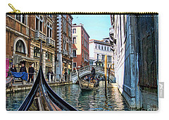 Carry-all Pouch featuring the photograph Busy Canal by Roberta Byram