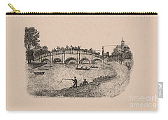 Busy Richmond Bridge And Fishermen Carry-all Pouch