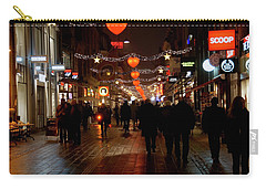 Carry-all Pouch featuring the photograph Busy Shoppers by Inge Riis McDonald