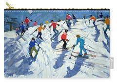 Busy Ski Slope Carry-all Pouch