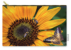 Busy Sunflower Carry-all Pouch