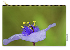 Busy Visitor - Syrphid Fly On Spiderwort Carry-all Pouch