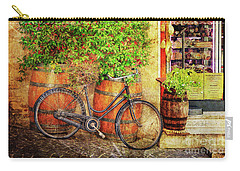 Carry-all Pouch featuring the photograph Butcher Shop Bicycle by Craig J Satterlee