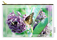 Butterflies In The Field Carry-all Pouch
