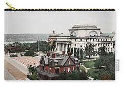 Carry-all Pouch featuring the painting Butler Library At Columbia University by Artistic Panda