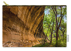Carry-all Pouch featuring the photograph Butler Wash Wave Formation - Blanding - Utah by Gary Whitton