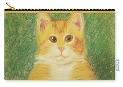 Carry-all Pouch featuring the drawing Buttercup by Denise Fulmer
