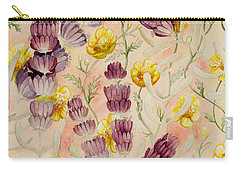 Buttercups And Lavendar Carry-all Pouch