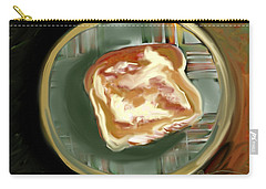 Carry-all Pouch featuring the painting Buttered Toast by Jean Pacheco Ravinski