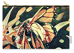 Butterfies In Love Abstract Carry-all Pouch