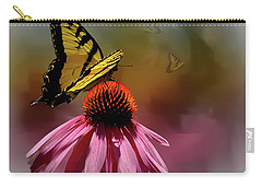 Butterflies And Cone Sflowers Carry-all Pouch