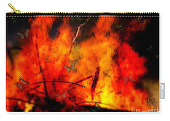 Butterflies And Flame Carry-all Pouch
