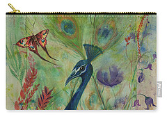 Butterflies And Peacock Carry-all Pouch