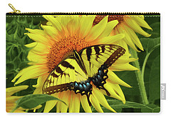Butterflies And Sunflowers Carry-all Pouch