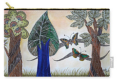 Butterflies In Love Carry-all Pouch