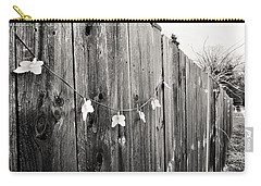 Carry-all Pouch featuring the photograph Butterflies On A Rustic Fence by Jeanette O'Toole