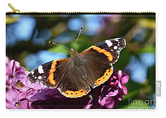 Carry-all Pouch featuring the photograph Butterfly 12 by Jean Bernard Roussilhe
