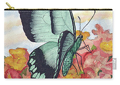 Carry-all Pouch featuring the painting Butterfly 180727 by Sam Sidders