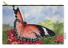 Carry-all Pouch featuring the painting Butterfly - 180709 by Sam Sidders