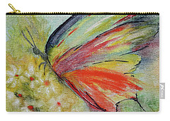 Carry-all Pouch featuring the painting Butterfly 3 by Karen Fleschler