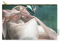 Butterfly And Ballerina Pointe Shoes Carry-all Pouch
