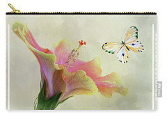 Butterfly And Fiesta Hibiscus Carry-all Pouch