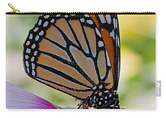 Butterfly And Hibiscus Carry-all Pouch