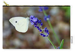 Butterfly And Lavender Carry-all Pouch