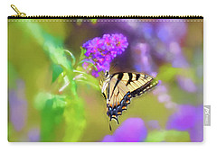 Carry-all Pouch featuring the photograph Butterfly Art - Eastern Tiger Swallowtail by Kerri Farley