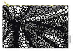 Butterfly Black And White Abstract Carry-all Pouch