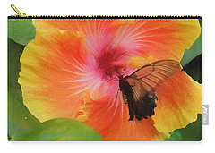 Butterfly Botanical Carry-all Pouch by Kathy Bassett