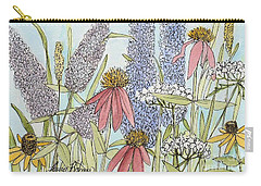 Butterfly Bush In Garden Carry-all Pouch