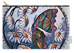 Butterfly Circle Digital Carry-all Pouch by Megan Walsh