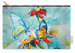 Butterfly Dance Carry-all Pouch by Jasna Dragun