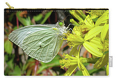 Butterfly Feasting On Yellow Flowers Carry-all Pouch