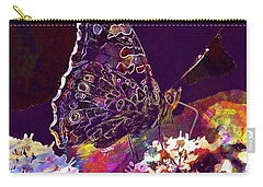 Carry-all Pouch featuring the digital art Butterfly Flower Summer Forage  by PixBreak Art