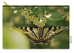 Carry-all Pouch featuring the photograph Butterfly From Another Side by Susan Capuano