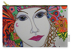 Butterfly Girl Carry-all Pouch by Alison Caltrider