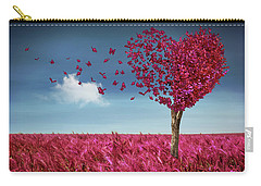 Butterfly Heart Tree Carry-all Pouch
