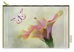 Butterfly Hibiscus Art II Carry-all Pouch