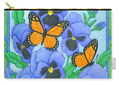 Butterfly Idyll-pansies Carry-all Pouch