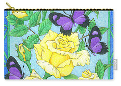 Butterfly Idyll-roses Carry-all Pouch