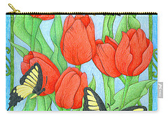 Butterfly Idyll-tulips Carry-all Pouch