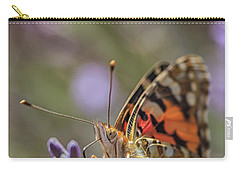 Carry-all Pouch featuring the photograph Butterfly In Close Up by Patricia Hofmeester