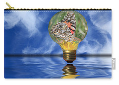 Butterfly In Lightbulb - Landscape Carry-all Pouch