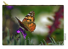 Carry-all Pouch featuring the photograph Butterfly In Winter by Debby Pueschel